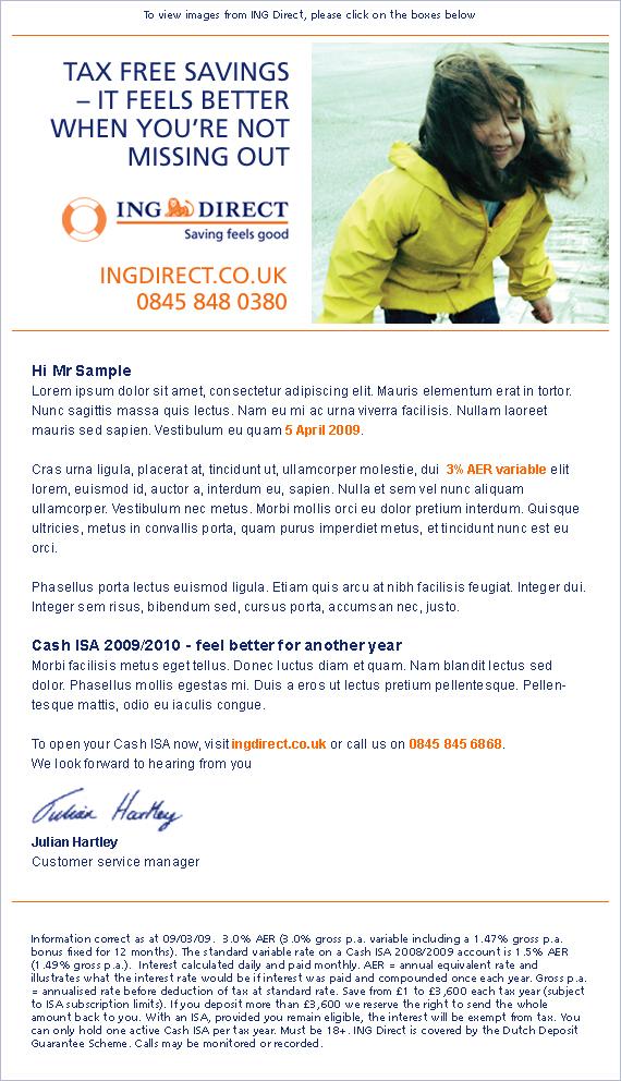 ING - email design