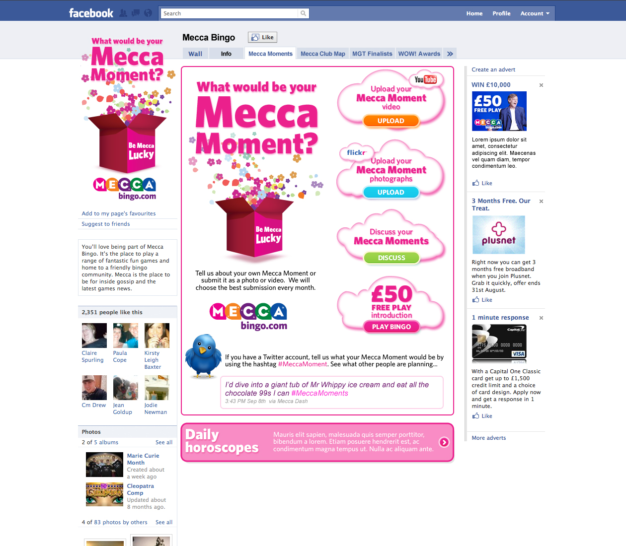 Mecca Moments - Facebook page