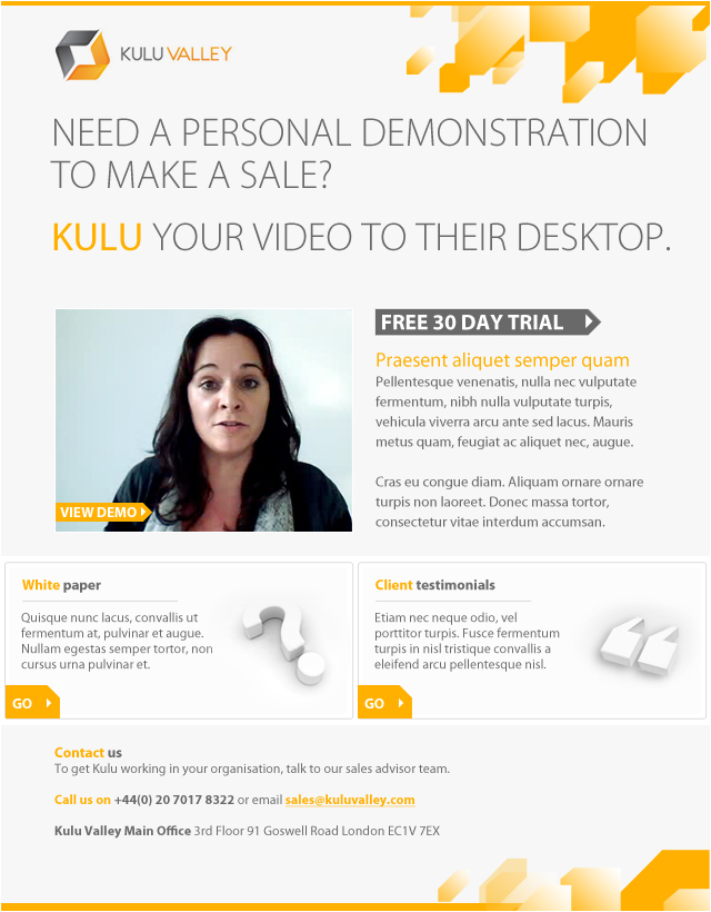 Kulu Valley - marketing email