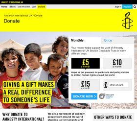 Amnesty UK - Donate
