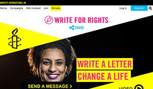 Amnesty International UK – Write For Rights website