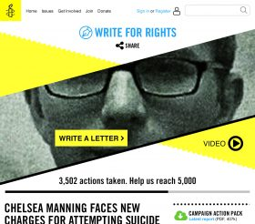 Amnesty UK Write for Rights campaign page 2017